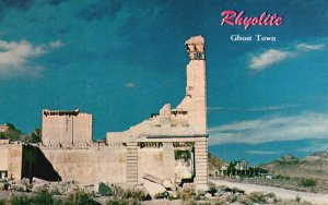 Rhyolite, Nevada, NV, Bank Ruins, Ghost City, Chrome Vintage Postcard g5464