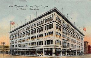 H17/ Portland Oregon Postcard c1910 olds Wortman & King Department Store