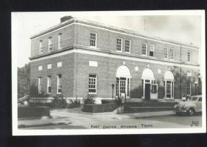 ATHENS TENNESSEE UNITED STATES POST OFFICE VINTAGE POSTCARD OLD CARS