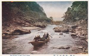 Boating on Hozu-riyer , KYOTO , Japan , 1910-30s