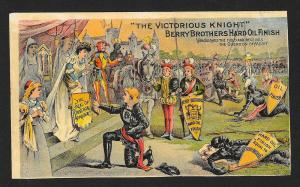 VICTORIAN TRADE CARD Berry Brothers Hard Oil Finish Soldiers