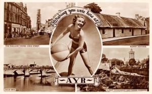 Ayr Ayrshire Scotland United Kingdom RPPC Real Photo Postcard Moira Lister