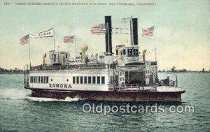 Ferry Steamer Ramona, Coronado, CA, CA USA Ferry Ship Unused