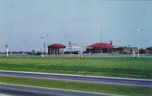 TEXACO Service Center / Gas Station , MacDonald-Cartier Freeway , Canada , ...