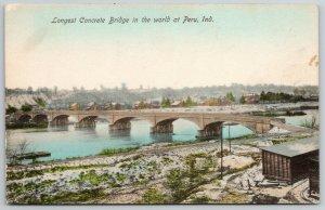 Peru Indiana~Wabash River~Concrete Bridge~Longest in the World~Razed 1974