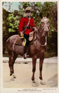 RP; Hand-colored, A Constible of the Royal Canadian Mounted Police, Canada, 1...