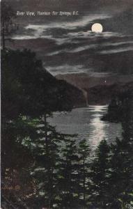 River View at Night - Harrison Hot Springs BC, British Columbia, Canada - DB