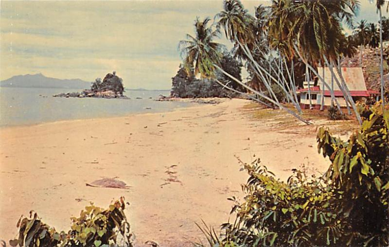 Malaysia Old Vintage Antique Post Card Lovers Isle Penang Unused