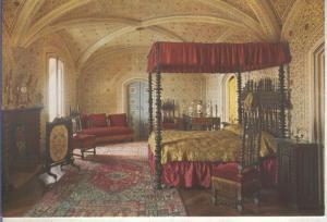 Postal 014144: Cuarto de la reina D.Amelia en el Palacio Nacional de Sintra, ...