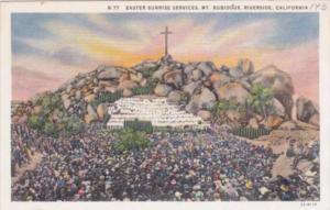 California Riverside Easter Sunrise Services On Mount Rubidoux