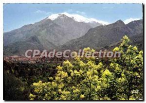 Postcard Modern Corte Vue Generale Sur Fond Snowy Mount Rotondo
