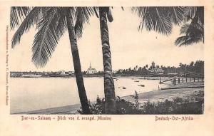 German East Africa Tanzania Dar-es-Salaam Blick von d. evangel. Mission
