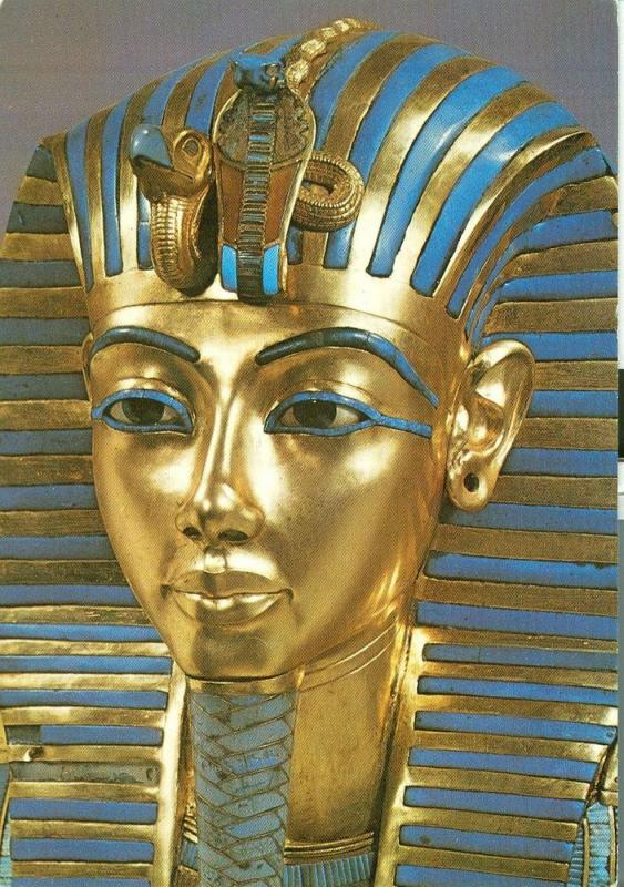Treasures of Tutankhamun, The Gold Mask, unused Postcard