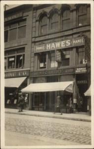 Portland ME Congress? McCarthy Storefront & Hawes Pianos Real Photo Postcard