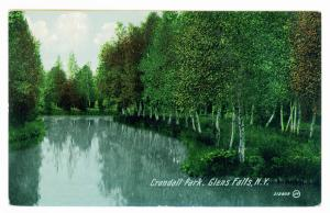 South Glens Falls to Gloversville, New York 1915 used Postcard, Crandall Park