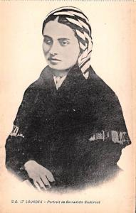 Lourdes France Portrait de Bernadette Soubirous Lourdes Portrait de Bernadett...