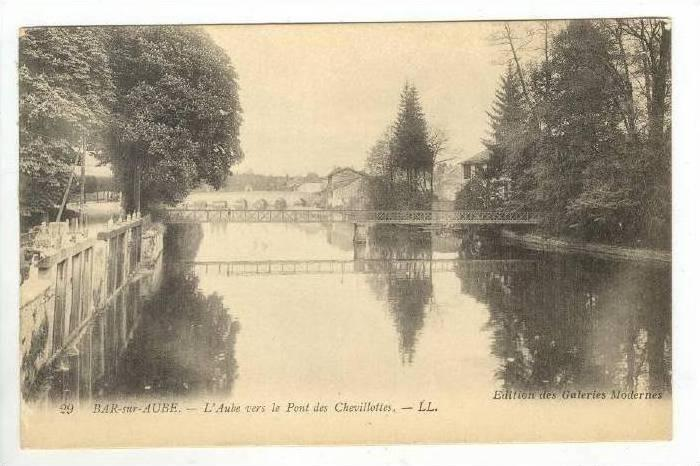 L'Aube Vers Le Pont Des Chevillottes, Bar-sur-Aube (Aube), France, 1900-1910s