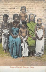 Yemen Aden, Group of Somali Women, Native People