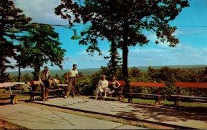 Pennsylvania Mount Pocono Hawthorne Inn and Cottages Shuffleboard Courts 1973