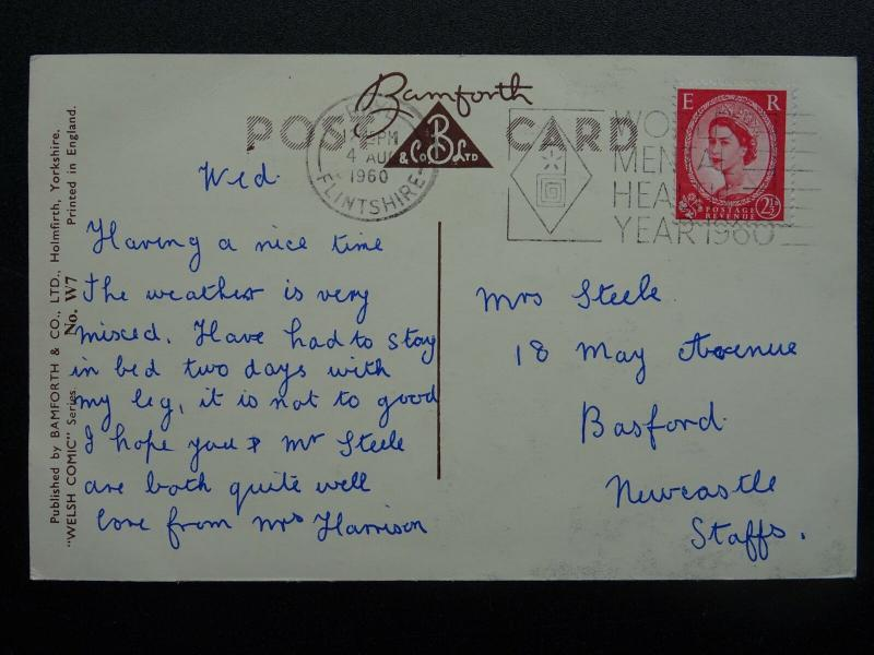 Wales  BEST WISHES from WALES THE FINEST PLACE OF ALL c1960 Postcard by Bamforth