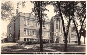 Berlin Wisconsin~High School Building~1943 RPPC @ Excel PC Co Milwaukee
