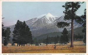 San Francisco Mountains Near Flagstaff, Arizona, Early Postcard, Unused