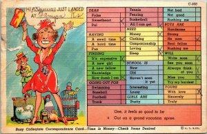 Postcard Humor Funny Comic 1939 Tampa Kansas Halertope Maryland Posted 1942