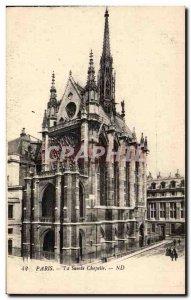 Old Postcard Paris La Sante Chapelle