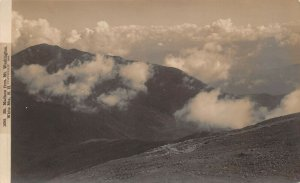LPS06 White Mountains New Hampshire Mt. Madison from Mt. Washington RPPC