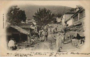 CPA AK BOUGIE Une Rue Arabe ALGERIE (1144535)