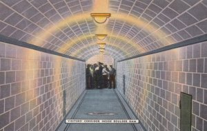 BOULDER DAM , Nevada , 30-40s ; Visitors' Corridor Inside Dam