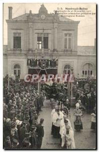 Montreuil Bellay - Catasrophe November 1911 - The Funerals solennaire Old Pos...