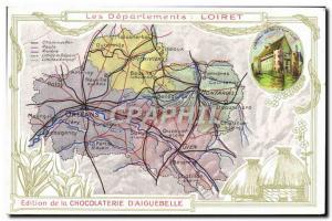 Postcard Old MAPS Chocolaterie d & # 39Aiguebelle Loiret Chateau de Sully sur...