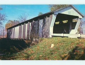 Unused Pre-1980 COVERED BRIDGE Canal Winchester Ohio OH t8104@