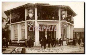 Old Postcard Paris Exhibition of Decorative Arts Pavilion of the Louvre