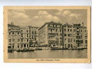 206578 ITALY VENISE Grand Hotel Britannia Vintage postcard
