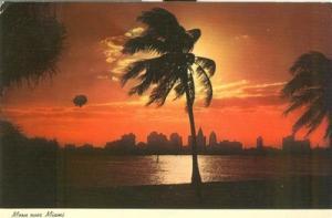 Moon over Miami, 1971 used Postcard