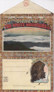 Postcard Folder Views Of THE WHITE MOUNTAINS OF NEW HAMPSHIRE, 1900-1910s
