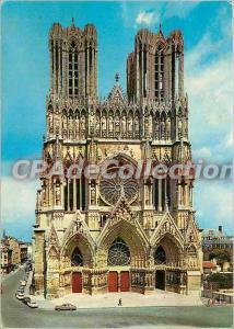 Postcard Modern Caathedrale Reims (XIII century) West Facade