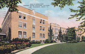 MT. PLEASANT, Michigan, PU-1938; Girl's Dormitory, Central State Teachers Col...