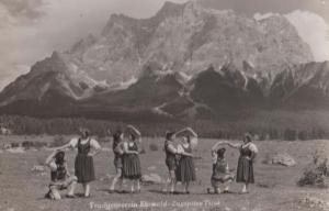 Zugspitza Tirol Ehrwald Vintage Ral Photo German Germany Postcard