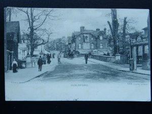 Surrey GUILDFORD showing JOHN MOON & SON & BETSER BOOTMAKERS c1903 UB Postcard