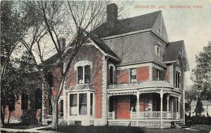 Maquoketa Iowa c1910 Postcard Jackson County Jail Prison