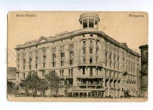 177830 POLAND Warsaw hotel BRISTOL Vintage postcard