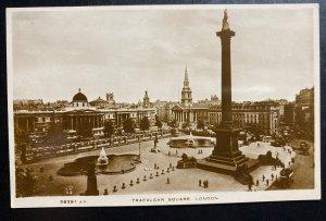 Mint England RPPC Real Picture Postcard London Trafalgar Square