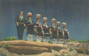 Zuni Pottery Women, Zuni Pueblo, south of Gallup, unused ...