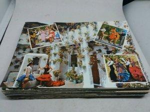 Bulk Buy Job Lot 50 Vintage Foreign Postcards Mixed Batch Continental Size