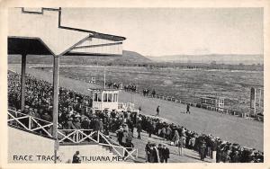 Tijuana MX~Horse Race Track~Grandstand & Judges Stand~B&W c1927 Zaragoza Cancel