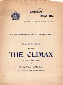 The Climax Edward Locke The Goon Show London Comedy Theatre Old Programme