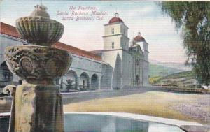 California Santa Barbara The Fountain Santa Barabara Mission
